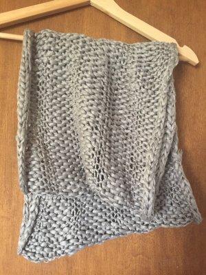 Crochet Scarf dark grey