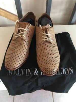 Melvin & hamilton Slippers cream-beige leather
