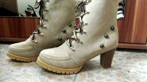 Beige Schuhe/Stiefeletten Neu und ungetragen!