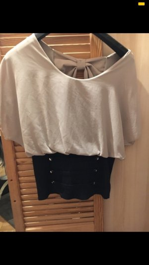 Cut Out Top oatmeal-black