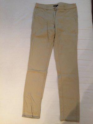 Beige Skinny-Jeans, Gr. 38