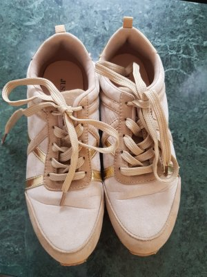 Just Fab Lace-Up Sneaker gold-colored-sand brown
