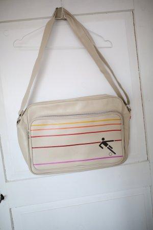 Beige Sporttasche mit Streifen