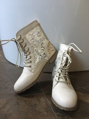 Lace-up Boots oatmeal-gold-colored