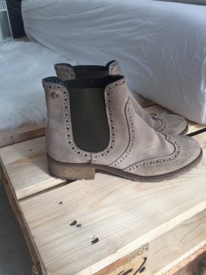 Botas de tobillo gris verdoso-beige