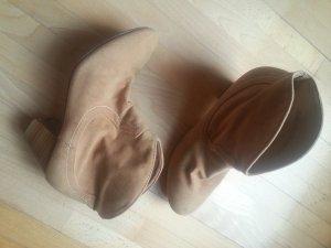 Graceland Botines estilo vaquero marrón arena