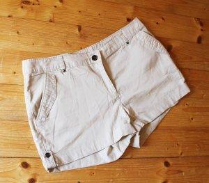 Beige Stoff-Shorts / Caprihose / Chino von H&M, Gr. 42