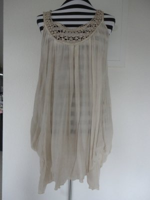 Beige Tunika/Kleid mit Spitze in Gr. L