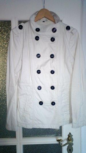 H&M Vareuse crème-blanc coton