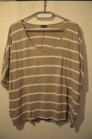 beige/weiß gestreiftes Oversize Shirt von Laura Scott