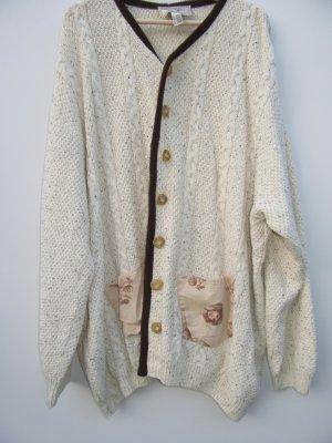 Vintage Gilet tricoté brun