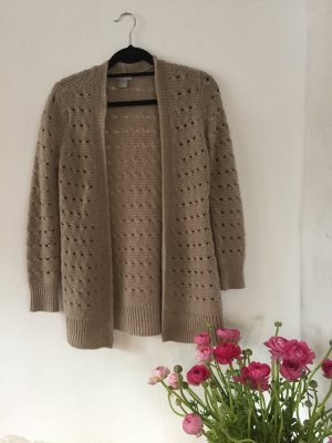 H&M Cardigan all'uncinetto beige-color cammello