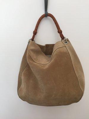 Beige Wildledertasche von Ralph Lauren