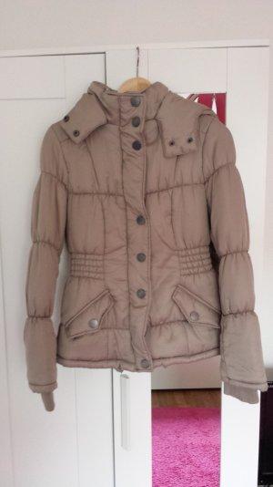 Beige Winterjacke von Vero Moda in Größe 34 mit Kapuze