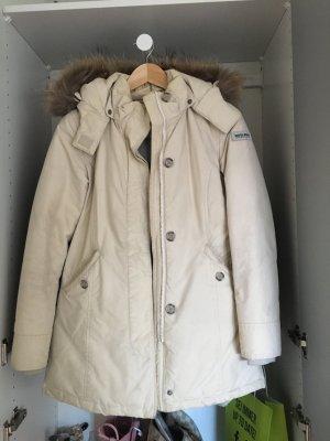Beige Woolrich-Winterjacke