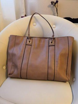 Beigebraune große Handtasche