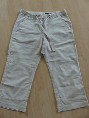 H&M 3/4 Length Trousers oatmeal linen