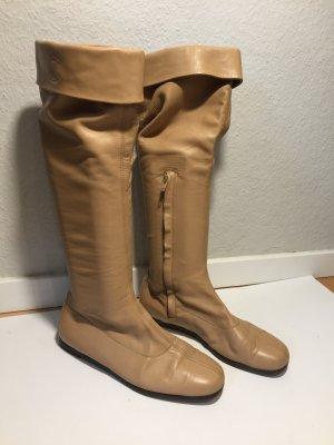 Chanel Botas altas marrón arena Cuero
