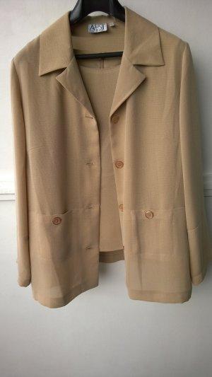 Beigefarbene Jacke mit Top der Marke  Aust, ungetragen, Größe 40