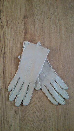 Beigefarbene Lederhandschuhe