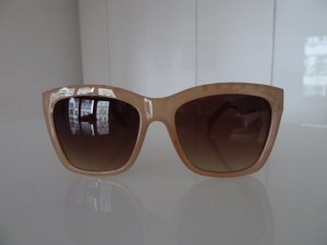 Beigefarbene Sonnenbrille