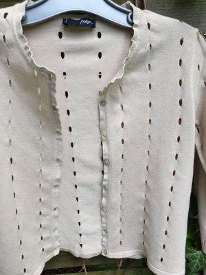 Beigefarbener durchbrochener Jacke von Bottega