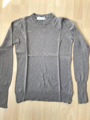 Beigefarbener Pulli Wolle und Seide Gemisch