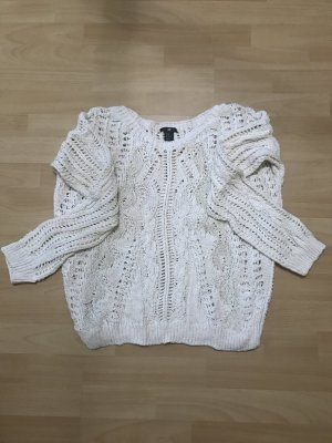 Beigefarbener Pullover (Grobstrick)