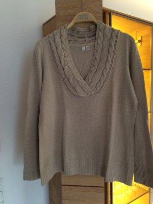 Beigefarbener Pullover von Esprit in Größe XL