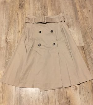 Theory Plaid Skirt beige-camel