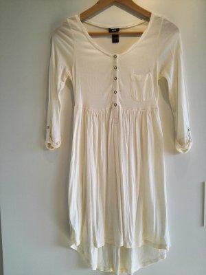Beigefarbenes Kleid mit Knopfleiste
