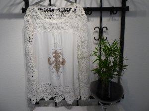 Lesara Gebreid shirt veelkleurig Viscose