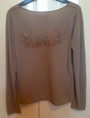 Beiger Baumwoll Pullover von Zadig & Voltaire