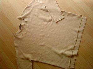 beiger Baumwollpullover in Oversized Größe 42/44