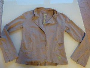 Beiger Blazer aus Sweatshirtstoff von gwynedds in Größe 38