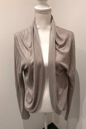 Dear Cashmere Knitted Cardigan gold-colored