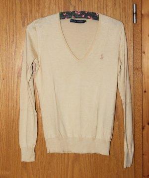 Beiger / hellgelber Pullover, Shirt, Ralph Lauren, Gr. XS