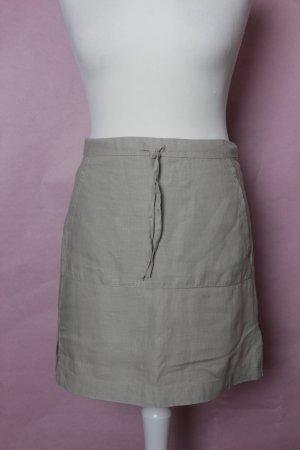 Beiger Leinenrock mit Taschen NEU von H&M