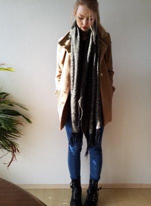 Beiger Mantel Jacke von Mango