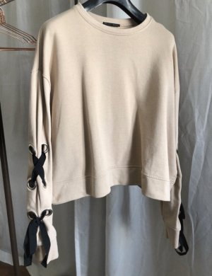 Zara Jersey negro-beige