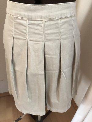MRL Plaid Skirt cream-camel cotton