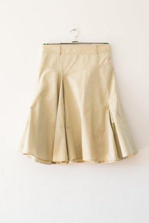 H&M Jupe à plis jaune clair coton
