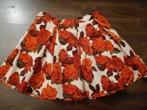 Forever 21 Skater Skirt red-beige
