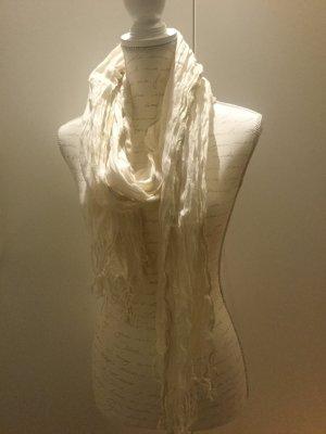 Beiger Schal mit goldenem Glitzerfaden
