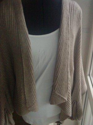 beiger Strick - Cardigan von Zara in Größe M