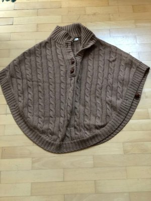 Massimo Dutti Knitted Poncho beige