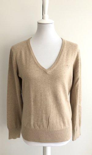Beiger V-Ausschnitt Pullover von GANT