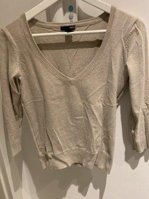 Beiger V-Ausschnitt Pullover von H&M
