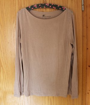 Beiges Basic Overzise-Shirt, Stretch, Gr. XL