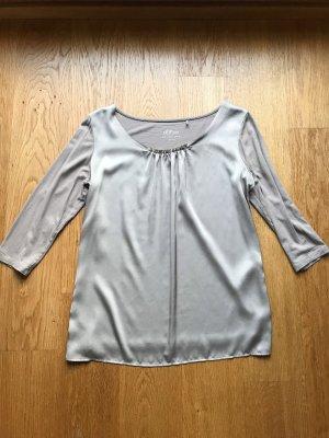 Beiges Glanz Shirt von s Oliver Größe 38